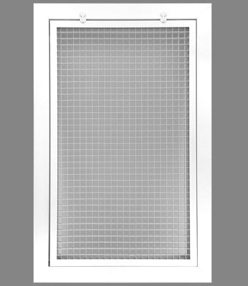 "12"" x 20"" Cube Core Eggcrate Return Air Filter Grille for 1"" Filter - Aluminum - White [Outer Dimensions: 14.5""w X 22.5""h]"