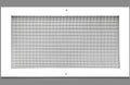"12"" x 20"" Cube Core Eggcrate Return Air Grille - Aluminum Rust Proof - HVAC Vent Duct Cover - White [Outer Dimensions: 14.5""w X 22.5""h]"