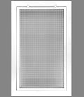 "16"" x 25"" Cube Core Eggcrate Return Air Filter Grille for 1"" Filter - Aluminum - White [Outer Dimensions: 18.5""w X 27.5""h]"