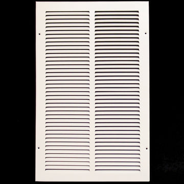 "12""w X 20""h Steel Return Air Grilles - Sidewall and ceiling - HVAC DUCT COVER - White [Outer Dimensions: 13.75""w X 21.75""h]"