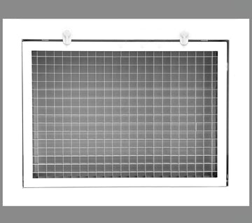 "14"" x 8"" Cube Core Eggcrate Return Air Filter Grille for 1"" Filter - Aluminum - White [Outer Dimensions: 16.5""w X 10.5""h]"
