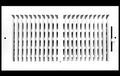 "16"" X 10"" 2-Way Vertical AIR SUPPLY GRILLE - DUCT COVER & DIFFUSER - Flat Stamped Face - White [Outer Dimensions: 17.75""w X 11.75""h]"