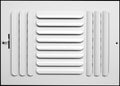 "12""w x 8""h 3-Way FIXED CURVED BLADE AIR SUPPLY DIFFUSER - Vent Duct Cover - Grille Register - Sidewall or ceiling - High Airflow - White"