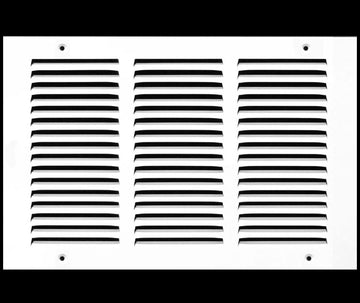 "14""w X 10""h Steel Return Air Grilles - Sidewall and ceiling - HVAC DUCT COVER - White [Outer Dimensions: 15.75""w X 11.75""h]"