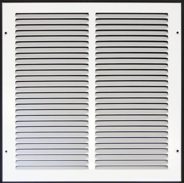 "12""w X 12""h Steel Return Air Grilles - Sidewall and ceiling - HVAC DUCT COVER - White [Outer Dimensions: 13.75""w X 13.75""h]"