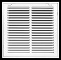 "14"" X 14 Steel Return Air Filter Grille for 1"" Filter - Removable Face/Door - HVAC DUCT COVER - Flat Stamped Face - White [Outer Dimensions: 16.5""w X 16.5""h]"