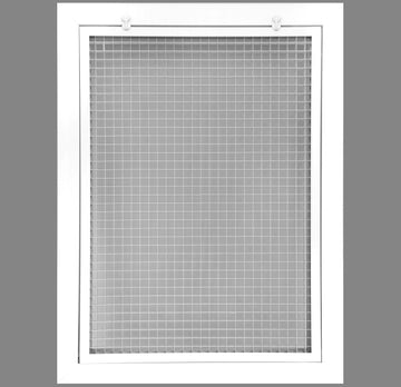 "14"" x 20"" Cube Core Eggcrate Return Air Filter Grille for 1"" Filter - Aluminum - White [Outer Dimensions: 16.5""w X 22.5""h]"