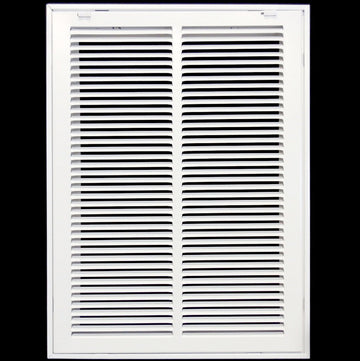 "14"" X 20 Steel Return Air Filter Grille for 1"" Filter - Removable Face/Door - HVAC DUCT COVER - Flat Stamped Face - White [Outer Dimensions: 16.5""w X 22.5""h]"