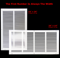 "20"" x 26"" Return Air Grille - Sidewall and ceiling - HVAC Vent Duct Cover Diffuser - [White] [Outer Dimensions: 21.75w X 27.75""h]"