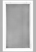 "14"" x 25"" Cube Core Eggcrate Return Air Filter Grille for 1"" Filter - Aluminum - White [Outer Dimensions: 16.5""w X 27.5""h]"