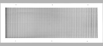 "14"" x 32"" Cube Core Eggcrate Return Air Grille - Aluminum Rust Proof - HVAC Vent Duct Cover - White [Outer Dimensions: 16.5""w X 34.5""h]"