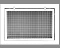 "14"" x 6"" Cube Core Eggcrate Return Air Filter Grille for 1"" Filter - Aluminum - White [Outer Dimensions: 16.5""w X 8.5""h]"