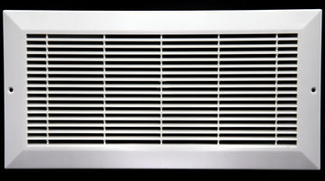 "10"" x 4"" HVAC Return Air Grille  - Plastic Never Rust Vent Duct Cover - For Wall & Ceiling [Outer Dimensions: 12w X 6""h]"