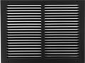 "14""w X 10""h Steel Return Air Grilles - Sidewall and ceiling - HVAC DUCT COVER - Black [Outer Dimensions: 15.75""w X 11.75""h]"