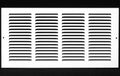 "16""w X 8""h Steel Return Air Grilles - Sidewall and ceiling - HVAC DUCT COVER - White [Outer Dimensions: 17.75""w X 9.75""h]"