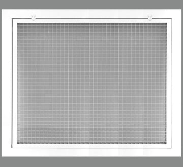 "20"" x 18"" Cube Core Eggcrate Return Air Filter Grille for 1"" Filter - Aluminum - White [Outer Dimensions: 22.5""w X 20.5""h]"