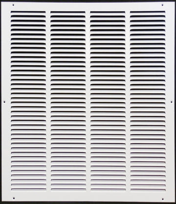 "16""w X 20""h Steel Return Air Grilles - Sidewall and ceiling - HVAC DUCT COVER - White [Outer Dimensions: 17.75""w X 21.75""h]"
