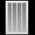 "16"" X 25 Steel Return Air Filter Grille for 1"" Filter - Removable Face/Door - HVAC DUCT COVER - Flat Stamped Face - White [Outer Dimensions: 18.5""w X 27.5""h]"