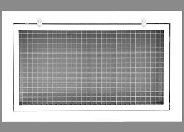 "30"" x 20"" Cube Core Eggcrate Return Air Filter Grille for 1"" Filter - Aluminum - White [Outer Dimensions: 32.5""w X 22.5""h]"