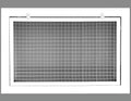 "20"" x 12"" Cube Core Eggcrate Return Air Filter Grille for 1"" Filter - Aluminum - White [Outer Dimensions: 22.5""w X 14.5""h]"