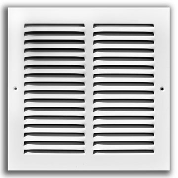 "6""w X 4""h Steel Return Air Grilles - Sidewall and ceiling - HVAC DUCT COVER - White [Outer Dimensions: 7.75""w X 5.75""h]"