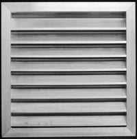 "24""w X 36""h Aluminum Outdoor Weather Proof Louvers - Waterproof & Rain Block - With Screen Mesh - HVAC Weather Louver Grille [Outer Dimensions: 25.5""w X 37.5""h]"