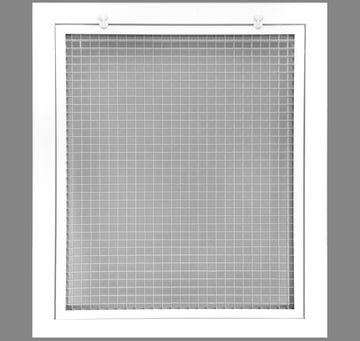 "18"" x 20"" Cube Core Eggcrate Return Air Filter Grille for 1"" Filter - Aluminum - White [Outer Dimensions: 20.5""w X 22.5""h]"