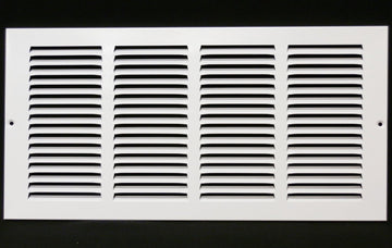 "18""w X 8""h Steel Return Air Grilles - Sidewall and ceiling - HVAC DUCT COVER - White [Outer Dimensions: 19.75""w X 9.75""h]"