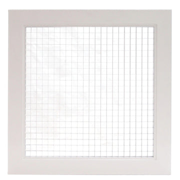 "10"" x 10"" Cube Core Eggcrate Return Air Grille - Aluminum Rust Proof - HVAC Vent Duct Cover - White [Outer Dimensions: 12.5""w X 12.5""h]"