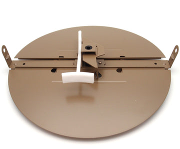 "12"" BUTTERFLY DAMPER - Control Your Airflow on drop ceiling grilles of 24x24 (12"" round duct opening)"