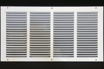 "20""w X 10""h Steel Return Air Grilles - Sidewall and ceiling - HVAC DUCT COVER - White [Outer Dimensions: 21.75""w X 11.75""h]"