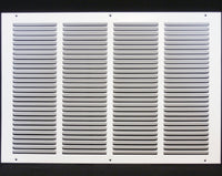 "20""w X 12""h Steel Return Air Grilles - Sidewall and ceiling - HVAC DUCT COVER - White [Outer Dimensions: 21.75""w X 13.75""h]"