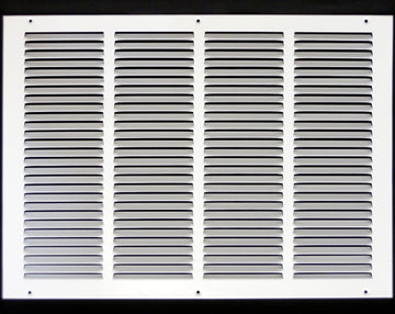 "20""w X 14""h Steel Return Air Grilles - Sidewall and ceiling - HVAC DUCT COVER - White [Outer Dimensions: 21.75""w X 15.75""h]"
