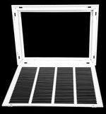 "20"" X 14 Steel Return Air Filter Grille for 1"" Filter - Removable Face/Door - HVAC DUCT COVER - Flat Stamped Face - White [Outer Dimensions: 22.5""w X 16.5""h]"