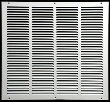 "20""w X 18""h Steel Return Air Grilles - Sidewall and ceiling - HVAC DUCT COVER - White [Outer Dimensions: 21.75""w X 19.75""h]"
