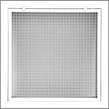"26"" x 26"" Cube Core Eggcrate Return Air Filter Grille for 1"" Filter - Aluminum - White [Outer Dimensions: 28.5""w X 28.5""h]"