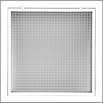 "20"" x 20"" Cube Core Eggcrate Return Air Filter Grille for 1"" Filter - Aluminum - White [Outer Dimensions: 22.5""w X 22.5""h]"