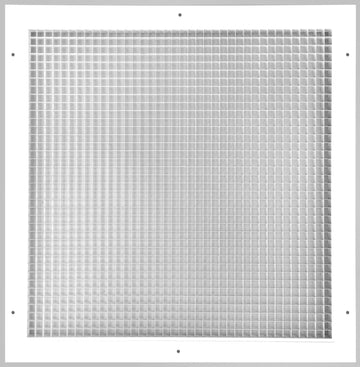 "20"" x 20"" Cube Core Eggcrate Return Air Grille - Aluminum Rust Proof - HVAC Vent Duct Cover - White [Outer Dimensions: 22.5""w X 22.5""h]"