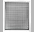 "14"" x 16"" Cube Core Eggcrate Return Air Filter Grille for 1"" Filter - Aluminum - White [Outer Dimensions: 16.5""w X 18.5""h]"