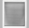 "18"" x 24"" Cube Core Eggcrate Return Air Filter Grille for 1"" Filter - Aluminum - White [Outer Dimensions: 20.5""w X 26.5""h]"