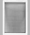 "20"" x 34"" Cube Core Eggcrate Return Air Filter Grille for 1"" Filter - Aluminum - White [Outer Dimensions: 22.5""w X 36.5""h]"