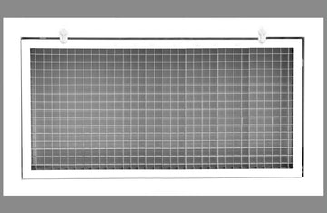 "30"" x 16"" Cube Core Eggcrate Return Air Filter Grille for 1"" Filter - Aluminum - White [Outer Dimensions: 32.5""w X 18.5""h]"