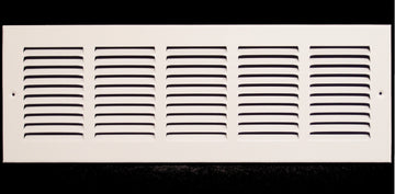 "20""w X 6""h Steel Return Air Grilles - Sidewall and ceiling - HVAC DUCT COVER - White [Outer Dimensions: 21.75""w X 7.75""h]"