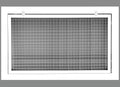 "36"" x 24"" Cube Core Eggcrate Return Air Filter Grille for 1"" Filter - Aluminum - White [Outer Dimensions: 38.5""w X 26.5""h]"