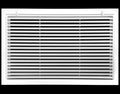 "24"" x 12"" Aluminum Return Filter Grille - Easy Air FLow - Linear Bar Grilles [Outer Dimensions: 26.5""w X 14.5""h]"