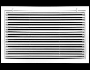 "24"" x 14"" Aluminum Return Filter Grille - Easy Air FLow - Linear Bar Grilles [Outer Dimensions: 26.5""w X 16.5""h]"
