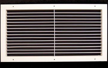 "24""w X 10""h Aluminum Adjustable Return/Supply HVAC Air Grille - Full Control Horizontal Airflow Direction - Vent Duct Cover - Wide Front End Overlap - Single Deflection [Outer Dimensions: 25.85""w X 11.85""h]"
