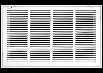 "24"" X 18 Steel Return Air Filter Grille for 1"" Filter - Removable Face/Door - HVAC DUCT COVER - Flat Stamped Face - White [Outer Dimensions: 26.5""w X 20.5""h]"