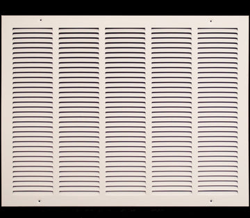 "25""w X 12""h Steel Return Air Grilles - Sidewall and ceiling - HVAC DUCT COVER - White [Outer Dimensions: 26.75""w X 13.75""h]"