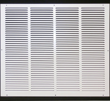 "24""w X 20""h Steel Return Air Grilles - Sidewall and ceiling - HVAC DUCT COVER - White [Outer Dimensions: 25.75""w X 21.75""h]"